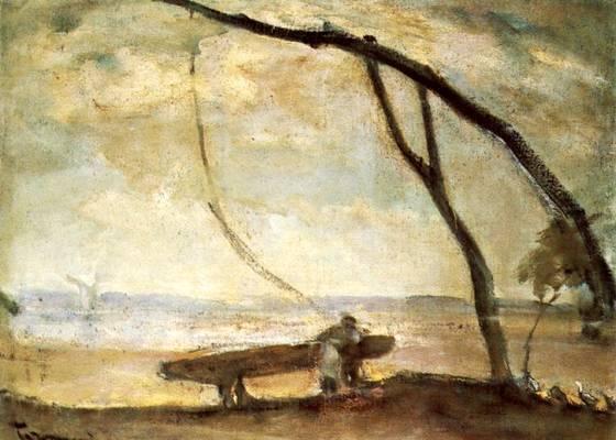 Tornyai János 1910-es években festett, Gémeskút (Délibáb) című képe, a szinte érzékelhetően vibráló levegővel és a távolban feltűnő halvány víztükörrel, a délibáb gyönyörű ábrázolása