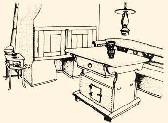 A gótikus jellegű (bölcsős, kamarás vagy erdélyi) asztal, amelynek mély fiókjában élelmiszert (elsősorban kenyeret) tartottak, a 16-17. században vált a magyar parasztházak jellegzetes bútorává (Forrás: Néprajzi lexikon)
