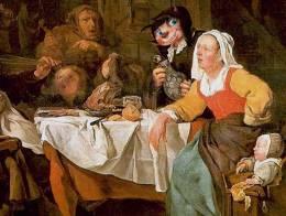 """A terített asztal: """"ez ami búban engemet vigasztal, ennél virít a lét kietlene"""""""