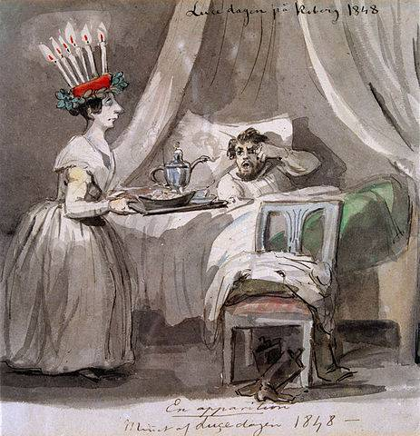 Luca-napi reggeli (Friz von Dardel festménye, 1848)  (Wikipédia)