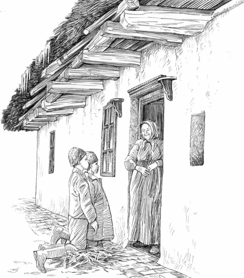 A lucázás vagy kotyolás a hajnalonként (lopott szalmával) házról házra járó fi úgyermekek termékenységvarázsló szokása volt (cultura.hu)