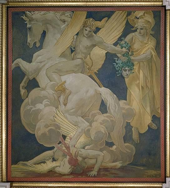 Pégaszosz utóbb a szárnyaló gondolat jelképe lett (John Singer Sargent festménye) • Forrás: Wikipédia