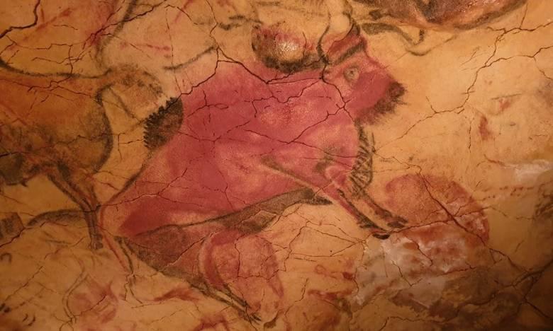 A színárnyalatok használatának korai példái az észak-spanyolországi Altamira-barlang falára – az okker hevítésével előállított sárga, barna és vörös árnyalatokkal – festett állatok (Kr. e. 15 000 körül) • Forrás: archaeology-travel.com