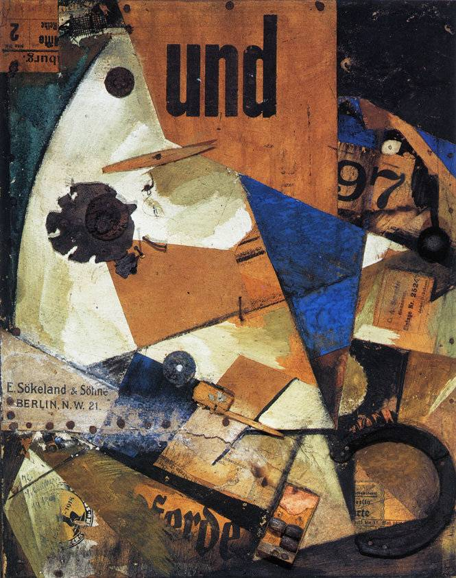 A dadaista festők képein a festék és a hulladék gyakran domborműszerűen épült egymásra • Kurt Schwitters: Undbild, 1920  • Kép forrása: researchgate.net