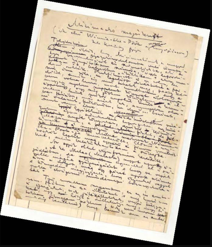 Micimackó fordítás kézirata, forrás: mek.niif.hu