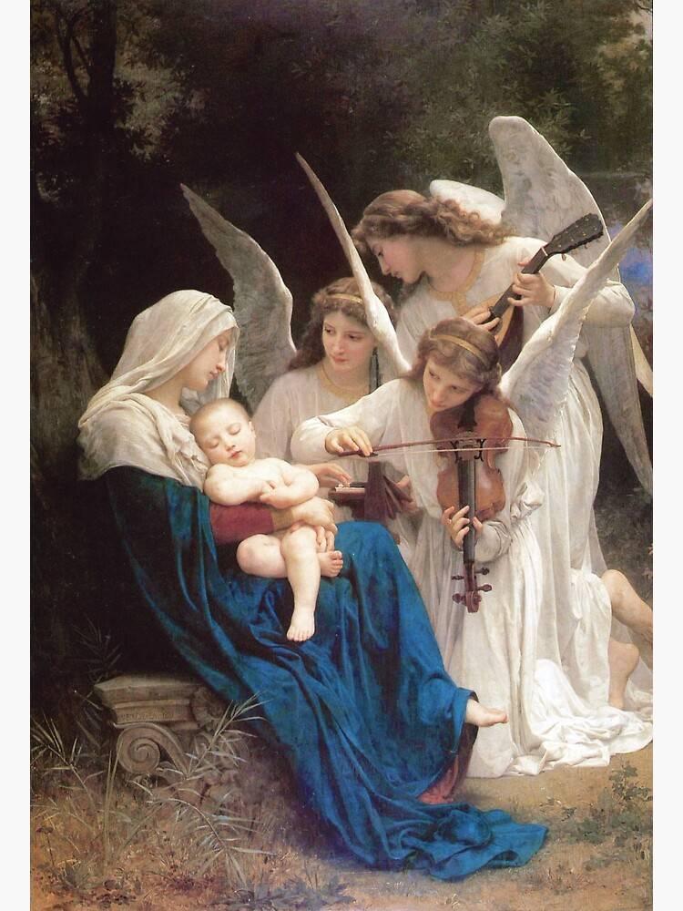 A Megváltó születését muzsikaszóval köszöntő • William-Adolphe Bouguereau: Zenélő angyalok, 1881 • Kép forrása: redbubble.com