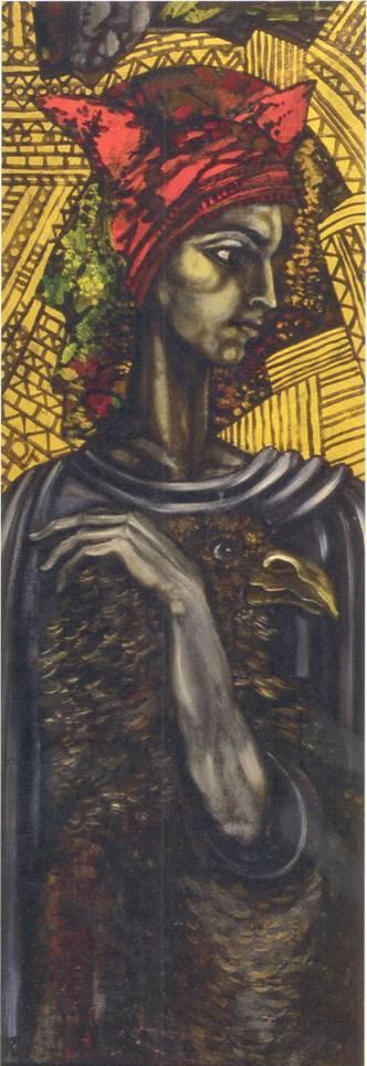 Péli Tamás • Évszakok - Tél • olaj, farosttábla, 40x112 cm, 1984 • forrás: sulinet.hu