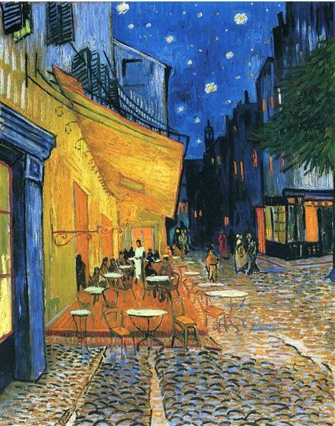 Éjszakai kávézó •1888, olaj vászonra, Modern Művészetek Múzeuma, New York • Forrás: wikiart.org