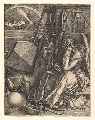 Albrecht Dürer: Melankólia •  rézkarc, 1514 • Forrás: metmuseum.org