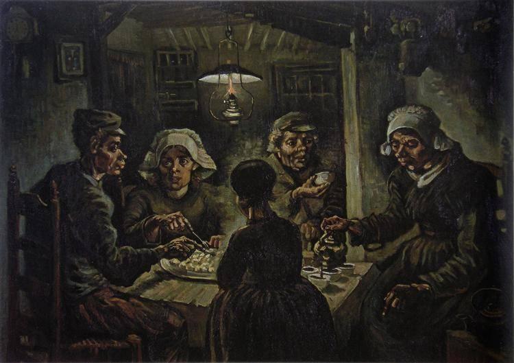 Krumplievők • 1885, olaj vászonra, Amszterdam, Van Gogh Múzeum • Forrás: wikiart.org