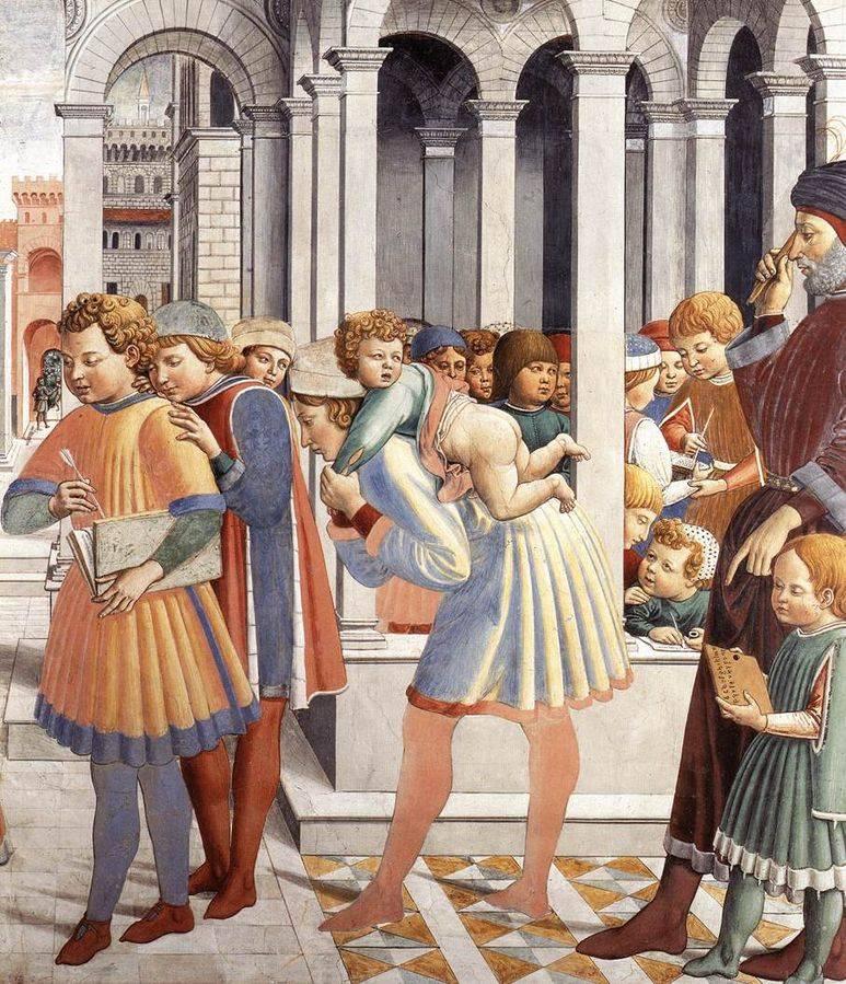 Ágoston az iskolában • Benozzo Gazzoli (1420-1497) • Forrás: Wikimédia Commons