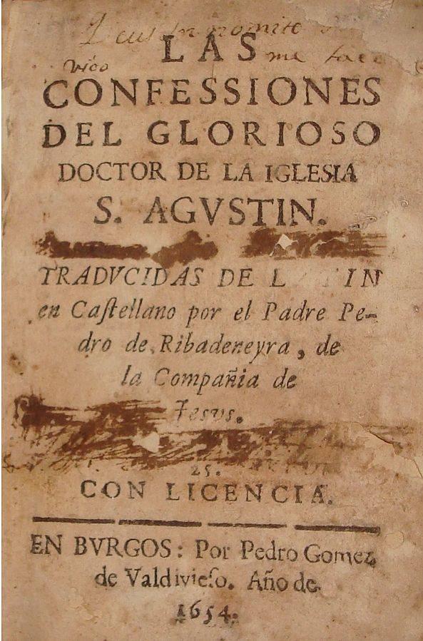 A Vallomások 1654-es, latin nyelvű kiadása • Forrás: Wikipédia