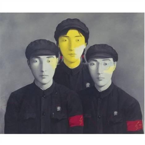 Vérvonal és három elvtárs, 1994.• olaj, vászon •  forrás:artnet.com