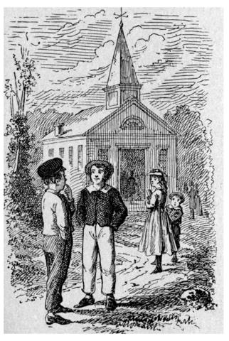 True Williams illusztrációja a Tom Sawyer kalandjai 1876-os angol kiadásához • forrás: Wikimédia