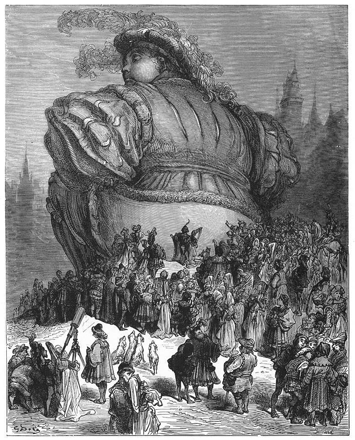 Gustave Doré illusztrációja Rabelais Gargantuájához (1854), Forrás: Pixels.com